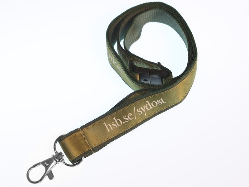Logoband med tryckt satinband (15 mm) (Specialproduktion)