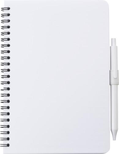 Antibacterial notebook with pen