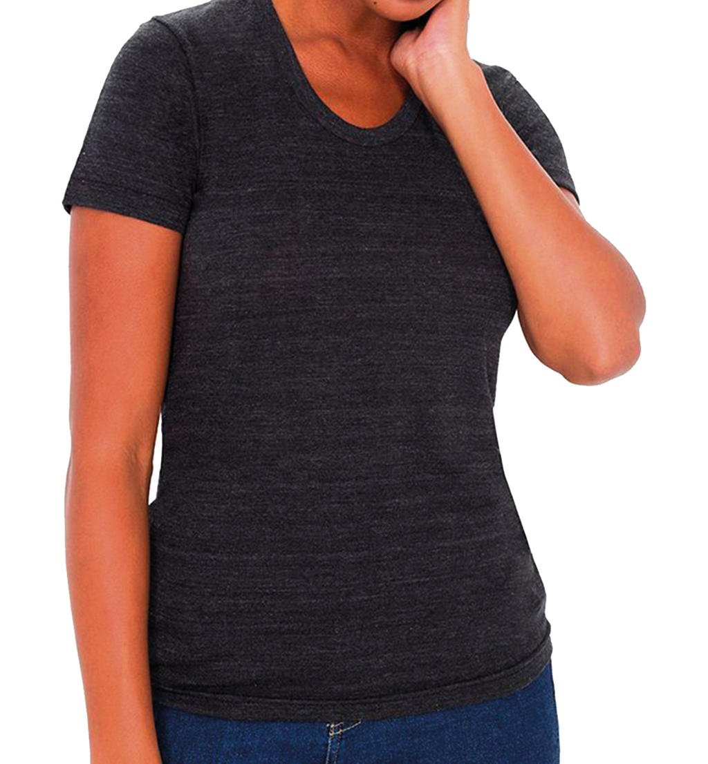 Women`s Tri-Blend Crew Neck T-Shirt