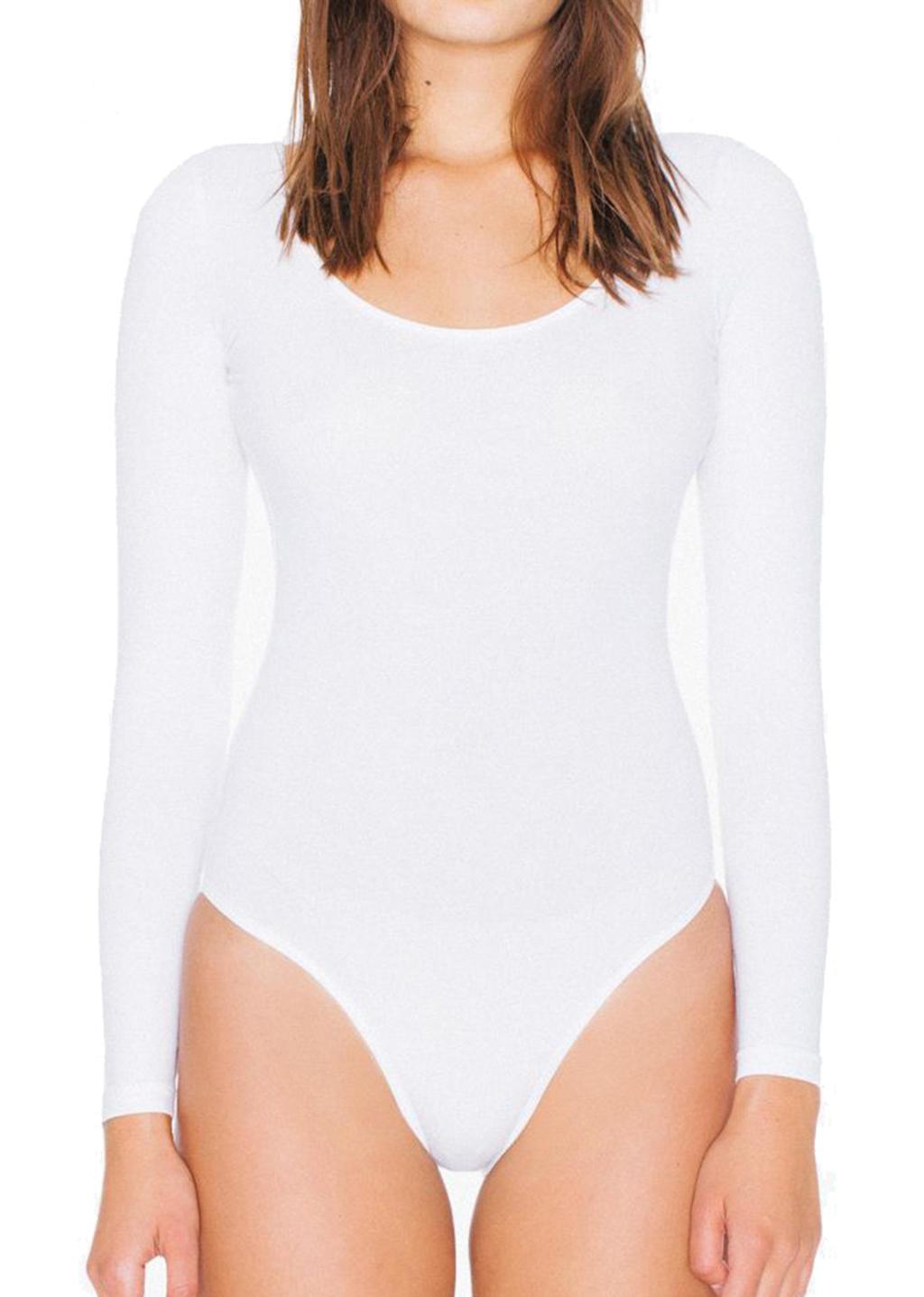 Women`s LS Double U-Neck Bodysuit