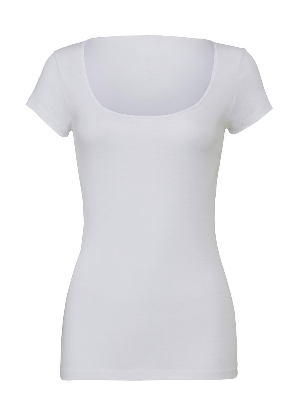 Sheer Scoop Neck T-Shirt
