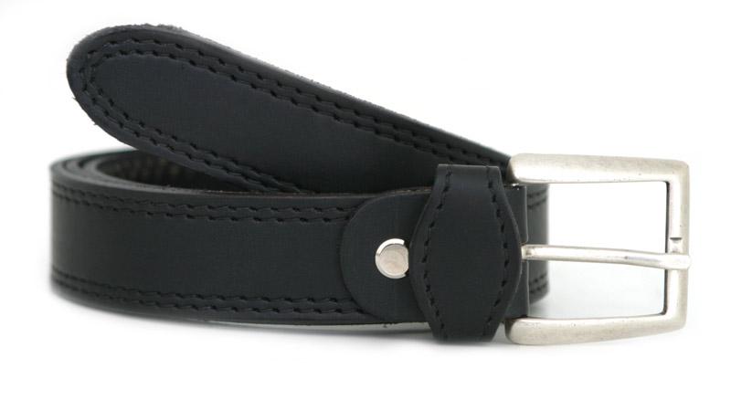 Bälte / Livrem T silver (svart)