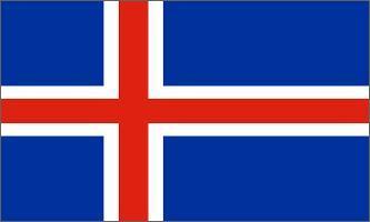 Bordsflagga Island (stor)