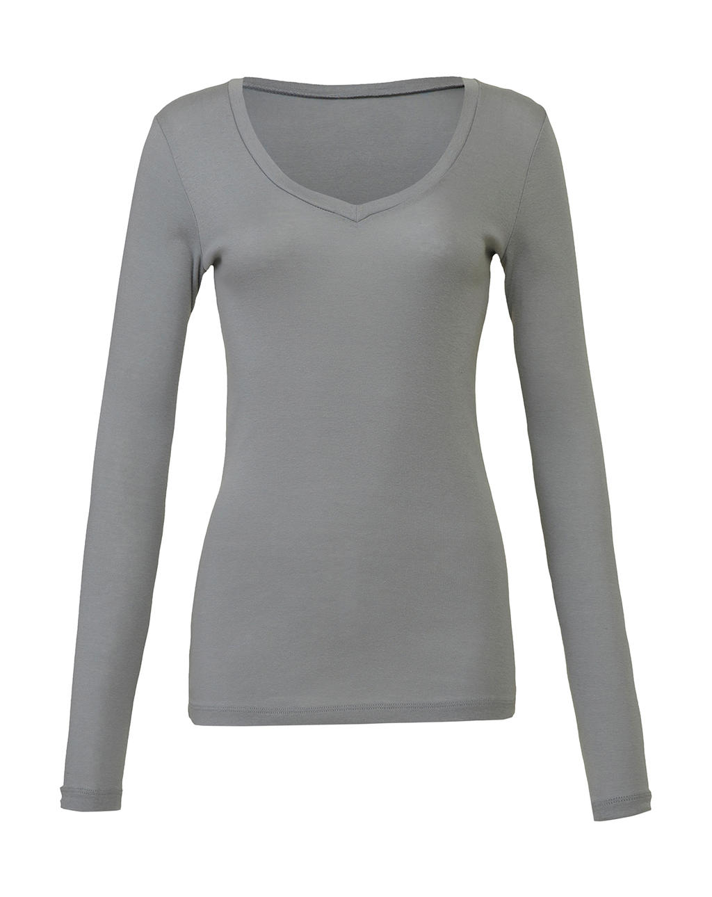 Sheer LS V-Neck T-Shirt