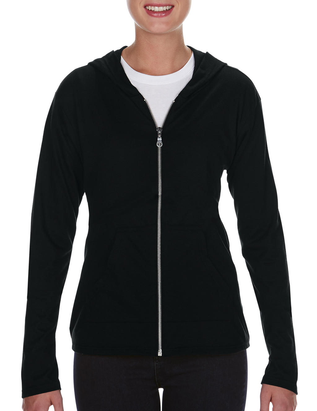 Womens` Tri-Blend Full Zip Hooded Jacket
