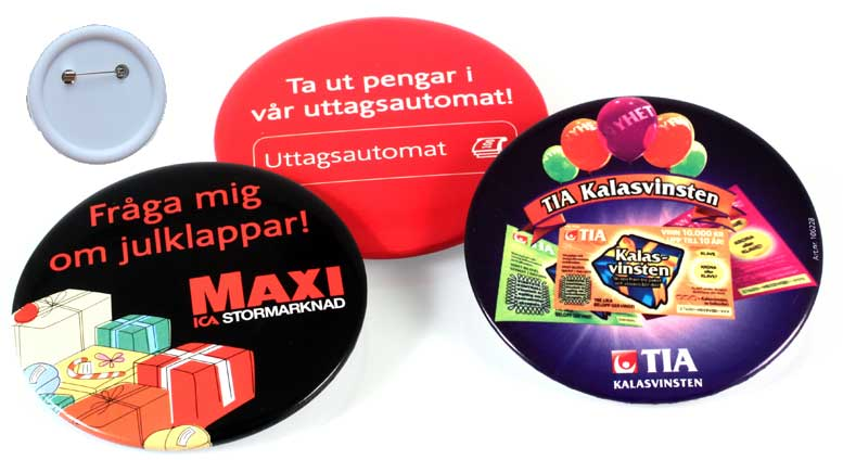 Kampanjknappar (35 mm Ø) (Specialproduktion)
