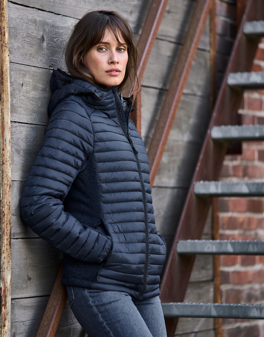 Ladies Hooded Aspen Crossover Jacket