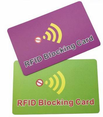 RFID blokkerende kort