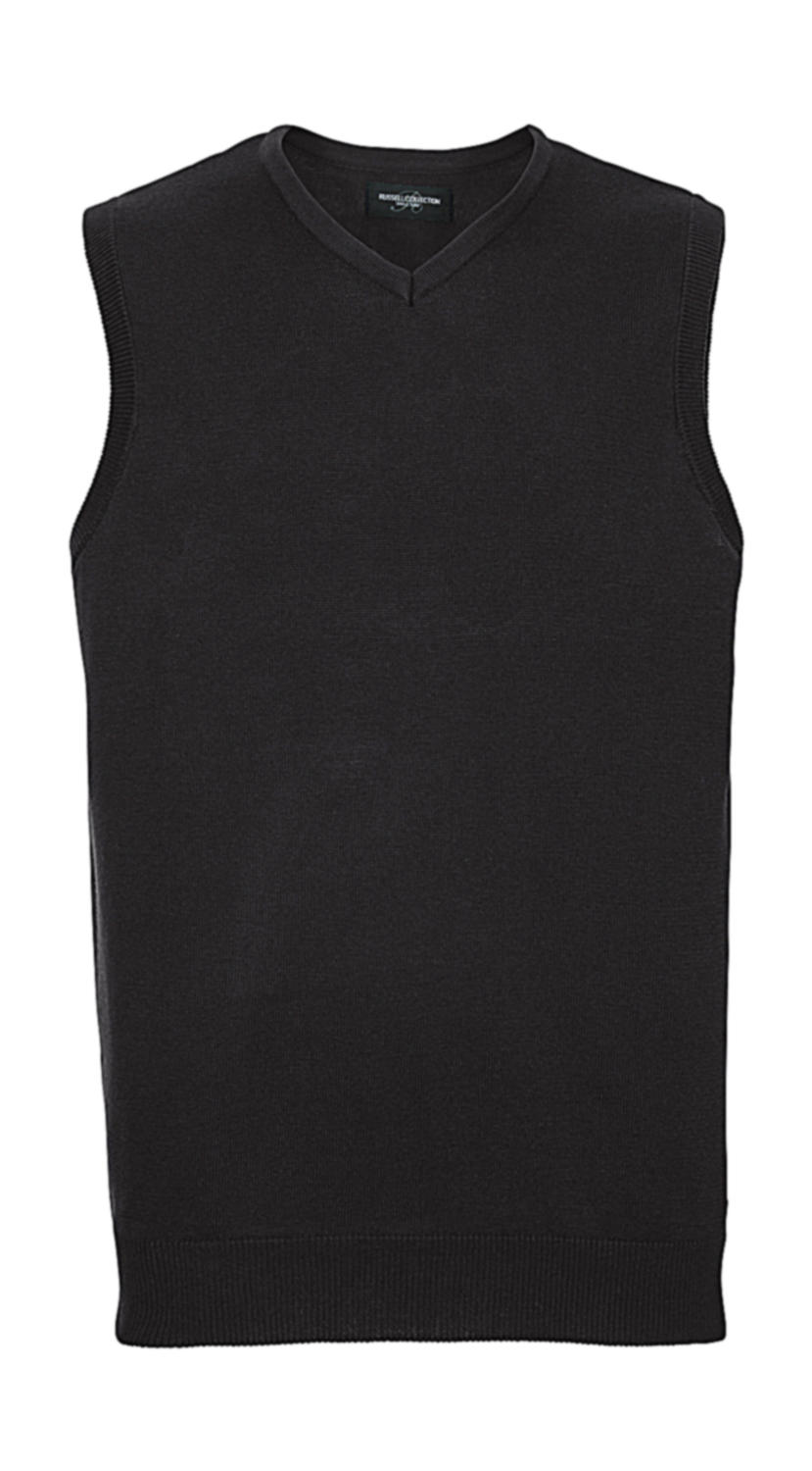 Adults` V-Neck Sleeveless Knitted Pullover