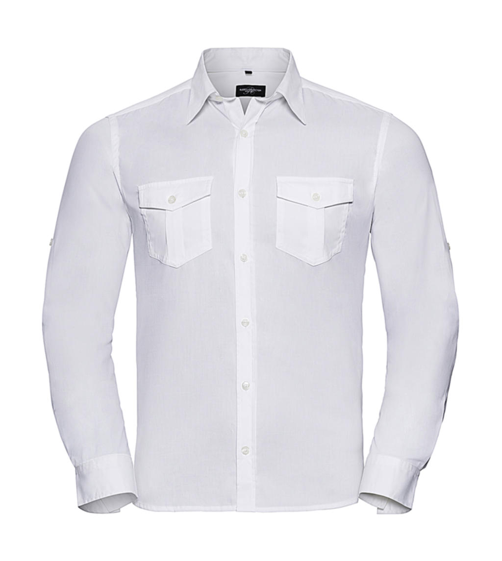 Mens Roll Sleeve Shirt Long Sleeve