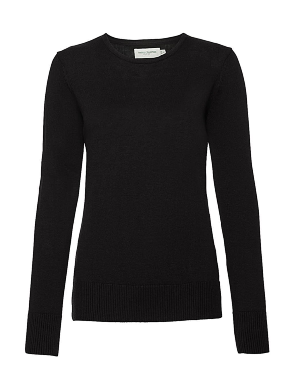Ladies` Crew Neck Knitted Pullover