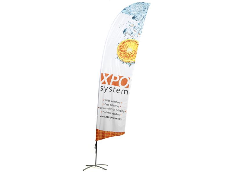 Strandflagg Vinklet dobbelsidet trykk (XXS)