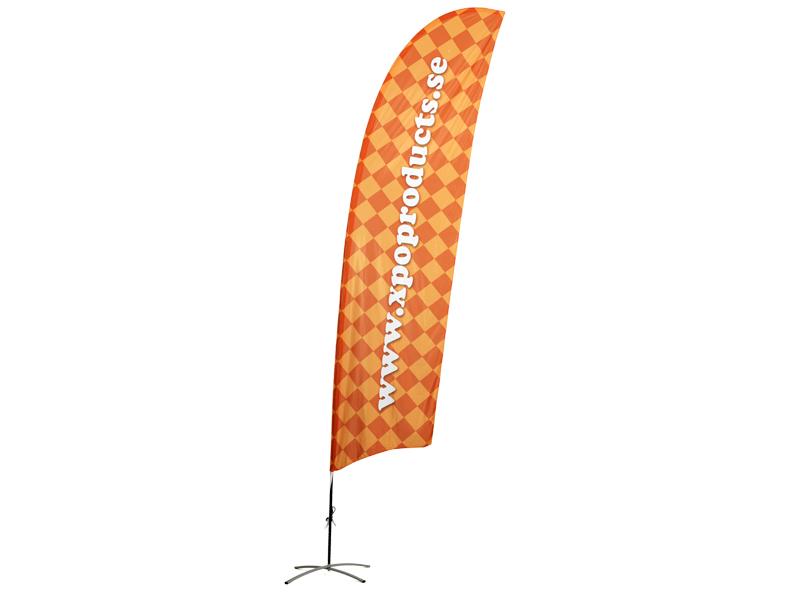 Beachflagga konkav dubbelsidigt tryck (M) (Specialproduktion)