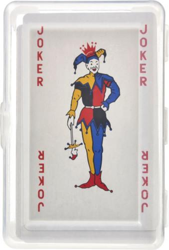 PET-kasse med spillekort