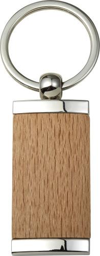 Nyckelring i metall och trä