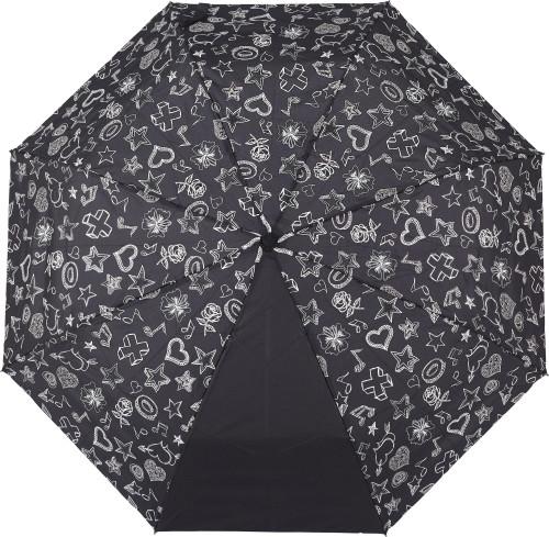 Hopvikbart paraply i pongee (190T)