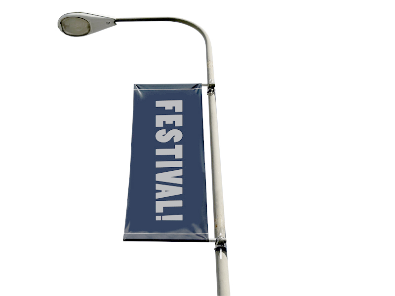 Street banner flagga 60x200 cm (Specialproduktion)