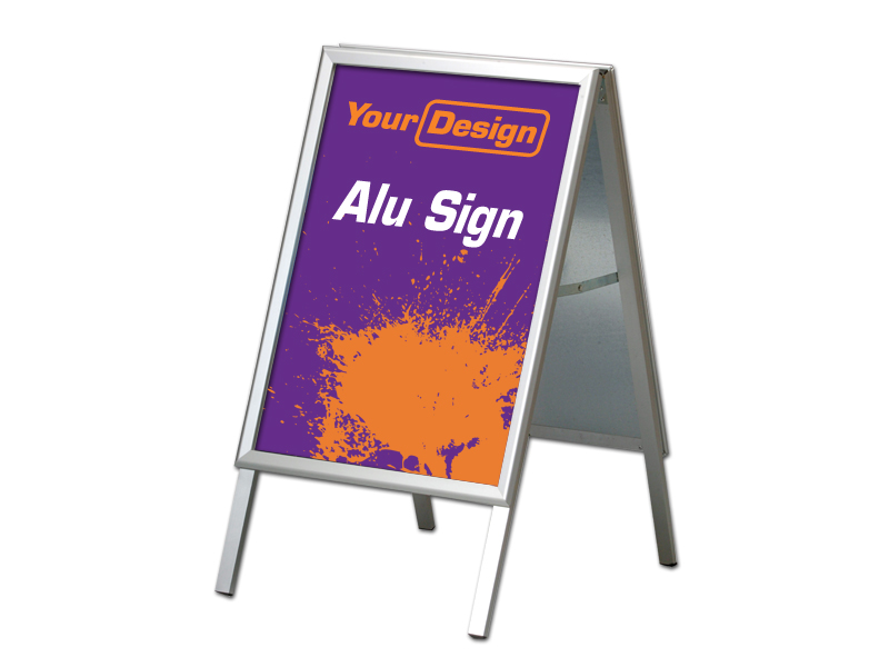 Sign Alu stand (50 x 70 cm) (Specialproduktion)