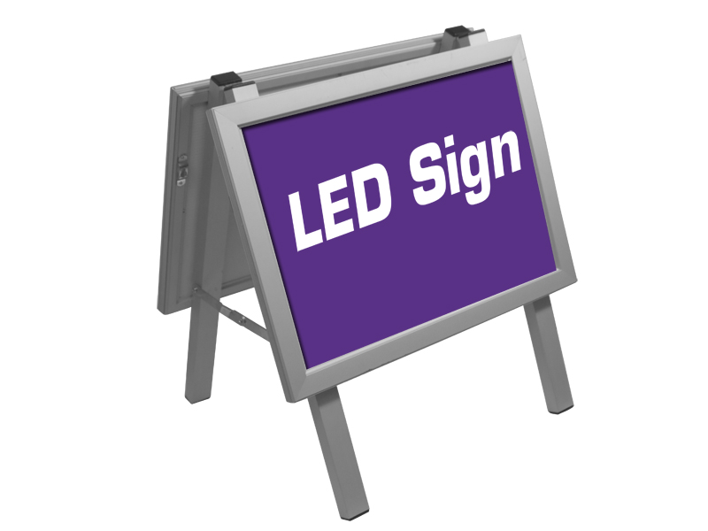 Poster sign Alu stand LED  A3 (Specialproduktion)