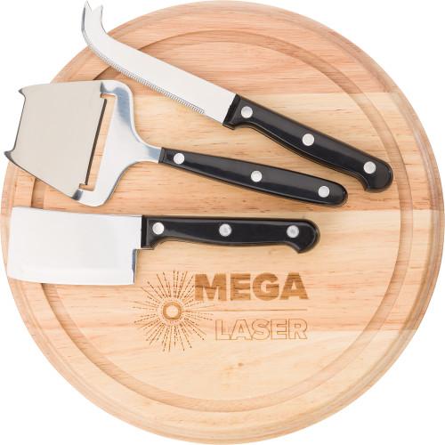 Skärbräda i trä för ost
