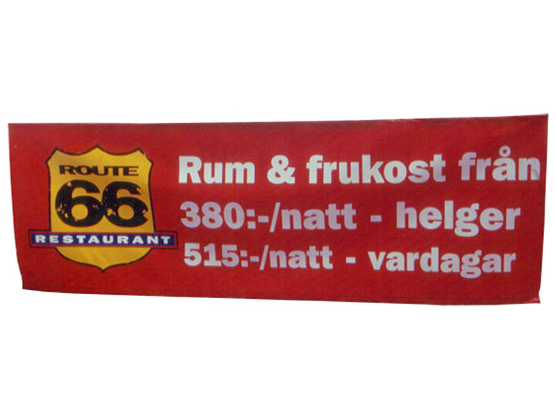 Polyester banner Banderoll (2 x 1 m) (Specialproduktion)