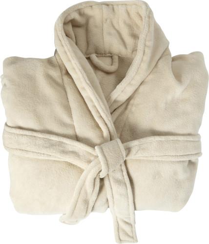 Morgonrock i fleece med två fickor