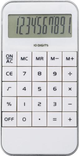 Kalkulator i form av mobiltelefon med 10-sifret display