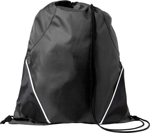 Gympapåse/ryggsäck med dekorsöm, polyester (210D)