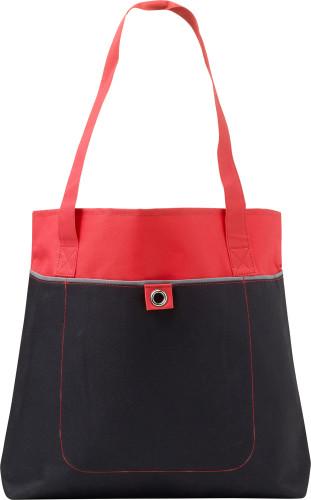 Väska med framficka och öljetter, non-woven