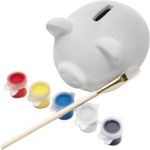 Spargris i gips att måla