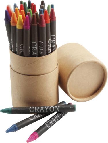 Färgkritor i set, 30 st