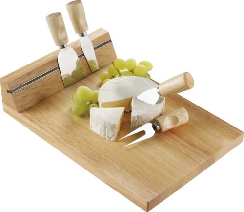 Rektangulär Skärbräda i trä för ost