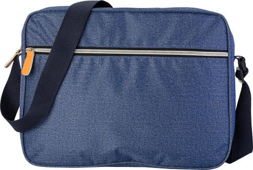 Polyester laptop bag in denim look
