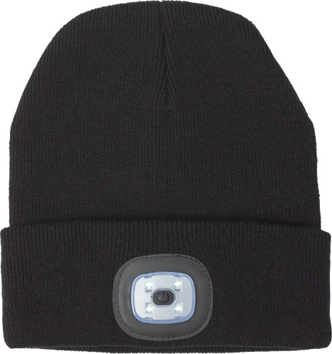 Acrylic  beanie with COB light