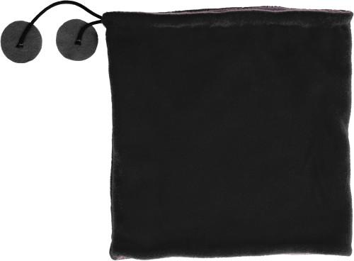 Scarf och mössa i ett, av polyester fleece (240 g/m²)