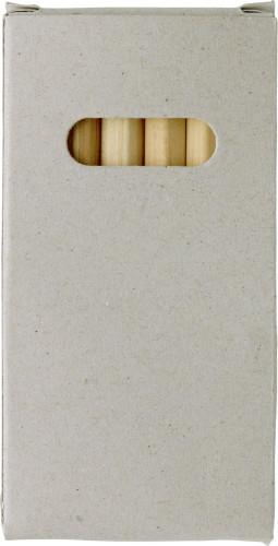 Fargeblyantsett, 6 stk korte