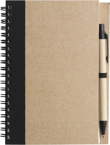 Notisbok med penn, miljøvenlig