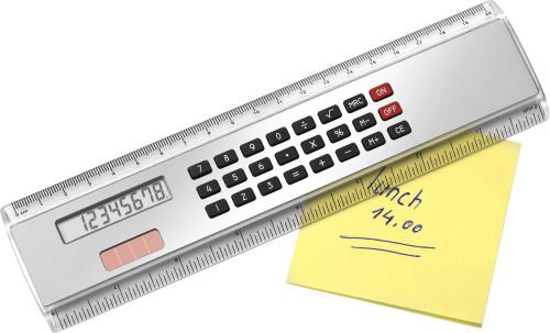 Linjal (20 cm) med miniräknare
