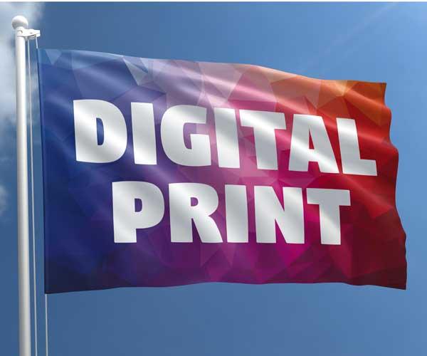 Digital printed flag (200 x 125 cm) CAMPAIGN