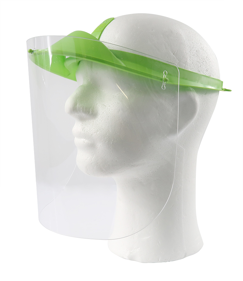 Reusable face shields