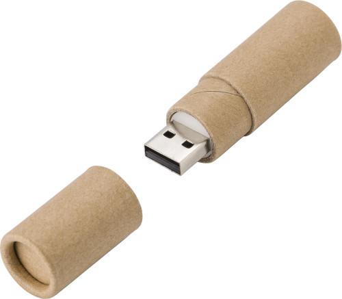 Cylinder Cardboard USB drive 2.0