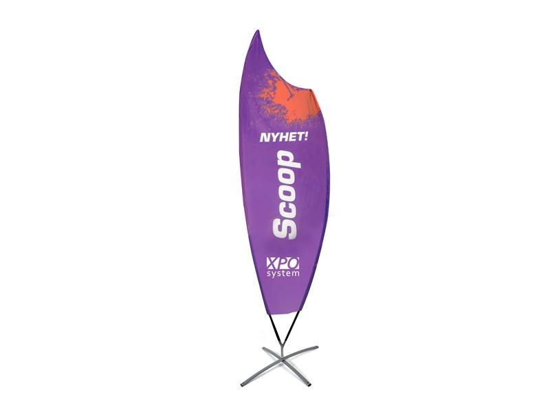 Beach flag Premium Scoop (L)