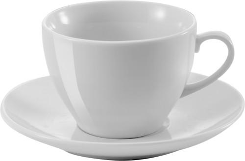 Kopp med fat, porselen (230 ml)