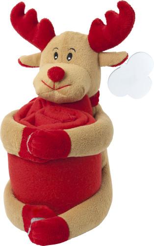 Christmas stuffed animal with blanket