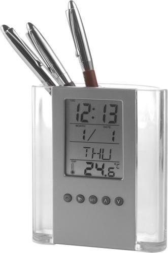 Pennholder med klokke