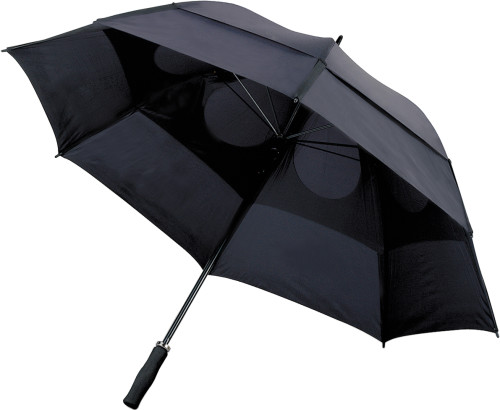 Stormparaply med ventiler, manuell öppning