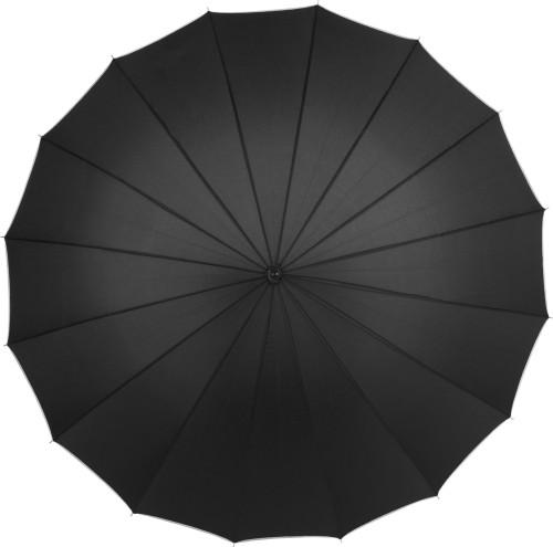 Paraply med träskaft, 16 paneler, manuell öppning