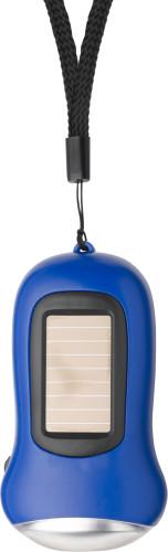 Dynamo LED lommelykt med solcellepanel