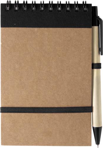Resirkulert notisbok A7 med penn