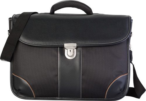 Polyester (1680D) laptop bag (17') with a PU lid